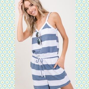 7th Ray Pants & Jumpsuits - Striped Cami Romper